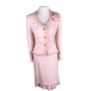 NIPON BOUTIQUE Dogwood Polyester Frill Skirt Suit